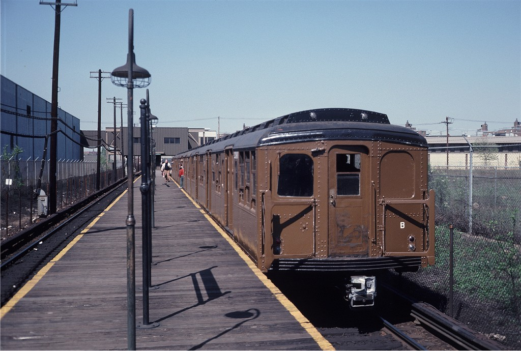 (207k, 1024x690)<br><b>Country:</b> United States<br><b>City:</b> New York<br><b>System:</b> New York City Transit<br><b>Line:</b> BMT Canarsie Line<br><b>Location:</b> East 105th Street<br><b>Route:</b> Fan Trip<br><b>Car:</b> BMT A/B-Type Standard 2390 <br><b>Photo by:</b> Steve Zabel<br><b>Collection of:</b> Joe Testagrose<br><b>Date:</b> 4/30/1977<br><b>Viewed (this week/total):</b> 0 / 1388