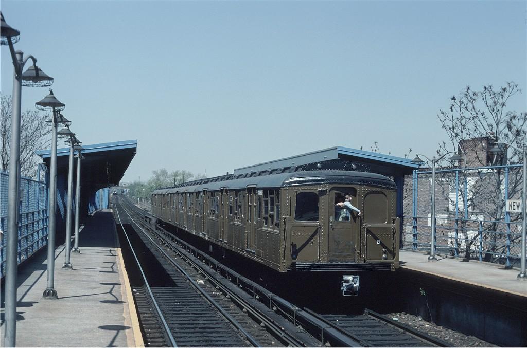 (189k, 1024x677)<br><b>Country:</b> United States<br><b>City:</b> New York<br><b>System:</b> New York City Transit<br><b>Line:</b> BMT Canarsie Line<br><b>Location:</b> New Lots Avenue<br><b>Route:</b> Fan Trip<br><b>Car:</b> BMT A/B-Type Standard 2390 <br><b>Photo by:</b> Ed McKernan<br><b>Collection of:</b> Joe Testagrose<br><b>Date:</b> 4/30/1977<br><b>Viewed (this week/total):</b> 0 / 1618