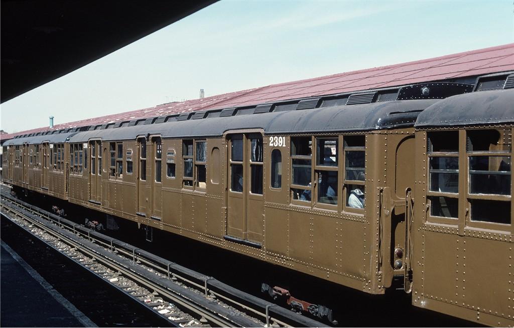 (181k, 1024x655)<br><b>Country:</b> United States<br><b>City:</b> New York<br><b>System:</b> New York City Transit<br><b>Line:</b> BMT Brighton Line<br><b>Location:</b> Kings Highway<br><b>Route:</b> Fan Trip<br><b>Car:</b> BMT A/B-Type Standard 2391 <br><b>Photo by:</b> Joe Testagrose<br><b>Date:</b> 4/16/1977<br><b>Viewed (this week/total):</b> 2 / 1012