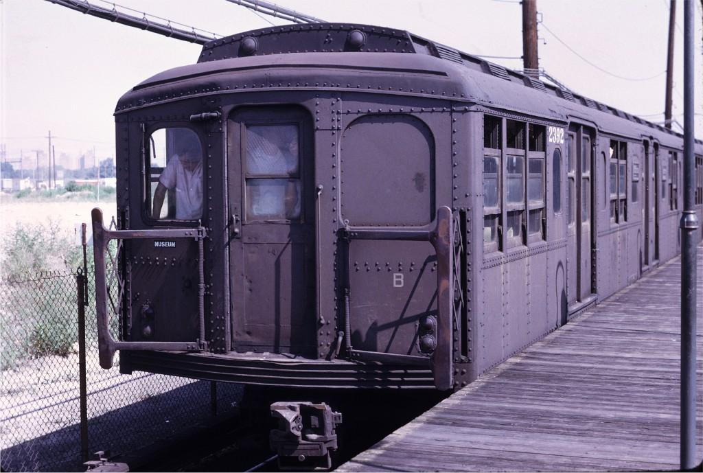 (196k, 1024x689)<br><b>Country:</b> United States<br><b>City:</b> New York<br><b>System:</b> New York City Transit<br><b>Line:</b> BMT Canarsie Line<br><b>Location:</b> East 105th Street<br><b>Route:</b> Fan Trip<br><b>Car:</b> BMT A/B-Type Standard 2392 <br><b>Photo by:</b> Joe Testagrose<br><b>Date:</b> 8/23/1969<br><b>Viewed (this week/total):</b> 4 / 1560