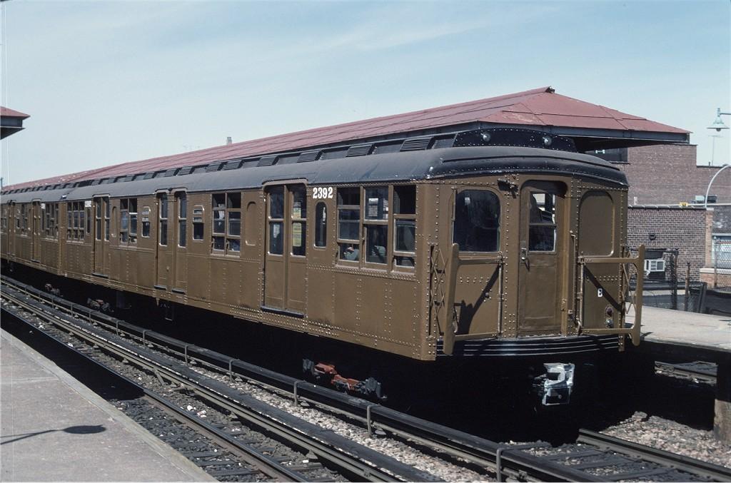 (192k, 1024x677)<br><b>Country:</b> United States<br><b>City:</b> New York<br><b>System:</b> New York City Transit<br><b>Line:</b> BMT Brighton Line<br><b>Location:</b> Kings Highway<br><b>Route:</b> Fan Trip<br><b>Car:</b> BMT A/B-Type Standard 2392 <br><b>Photo by:</b> Joe Testagrose<br><b>Date:</b> 4/16/1977<br><b>Viewed (this week/total):</b> 0 / 1399