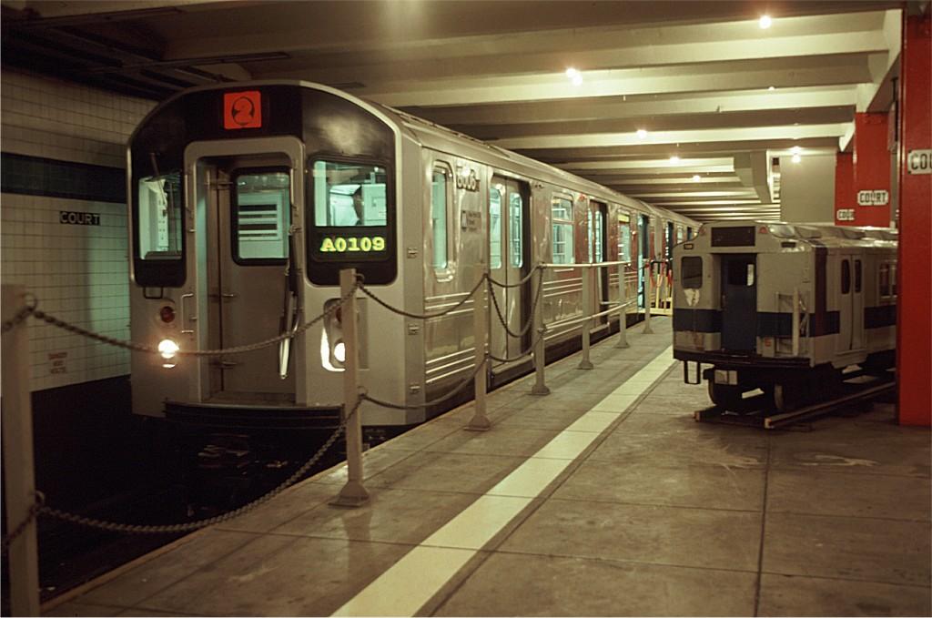 (158k, 1024x679)<br><b>Country:</b> United States<br><b>City:</b> New York<br><b>System:</b> New York City Transit<br><b>Location:</b> New York Transit Museum<br><b>Car:</b> R-110A (Kawasaki, 1992) 8006 <br><b>Photo by:</b> Doug Grotjahn<br><b>Collection of:</b> Joe Testagrose<br><b>Date:</b> 11/21/1992<br><b>Viewed (this week/total):</b> 5 / 4801