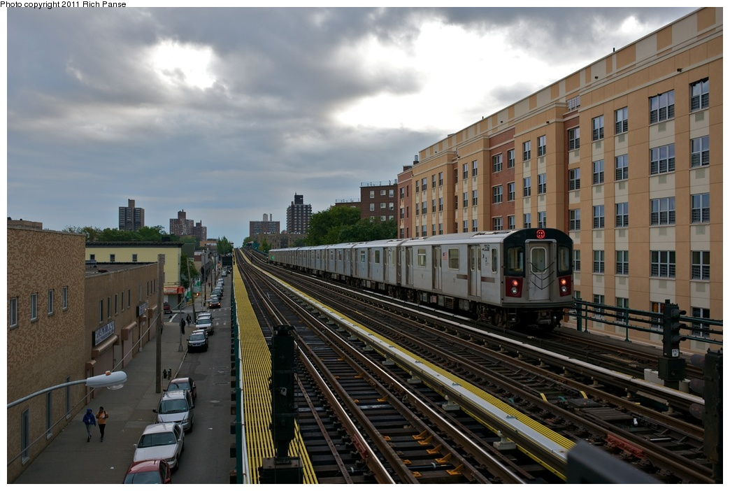 (258k, 1044x702)<br><b>Country:</b> United States<br><b>City:</b> New York<br><b>System:</b> New York City Transit<br><b>Line:</b> IRT White Plains Road Line<br><b>Location:</b> Burke Avenue<br><b>Route:</b> 2<br><b>Car:</b> R-142 (Primary Order, Bombardier, 1999-2002) 6471 <br><b>Photo by:</b> Richard Panse<br><b>Date:</b> 10/1/2011<br><b>Viewed (this week/total):</b> 2 / 1590