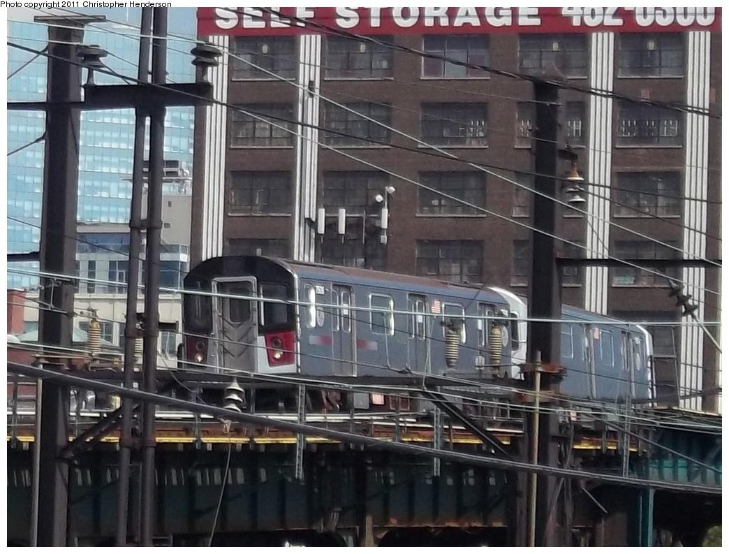 (329k, 1044x793)<br><b>Country:</b> United States<br><b>City:</b> New York<br><b>System:</b> New York City Transit<br><b>Line:</b> IRT Flushing Line<br><b>Location:</b> Hunters Point Avenue<br><b>Route:</b> Testing<br><b>Car:</b> R-142A (Primary Order, Kawasaki, 1999-2002) 7506 <br><b>Photo by:</b> Christopher Henderson<br><b>Date:</b> 9/30/2011<br><b>Viewed (this week/total):</b> 2 / 2322