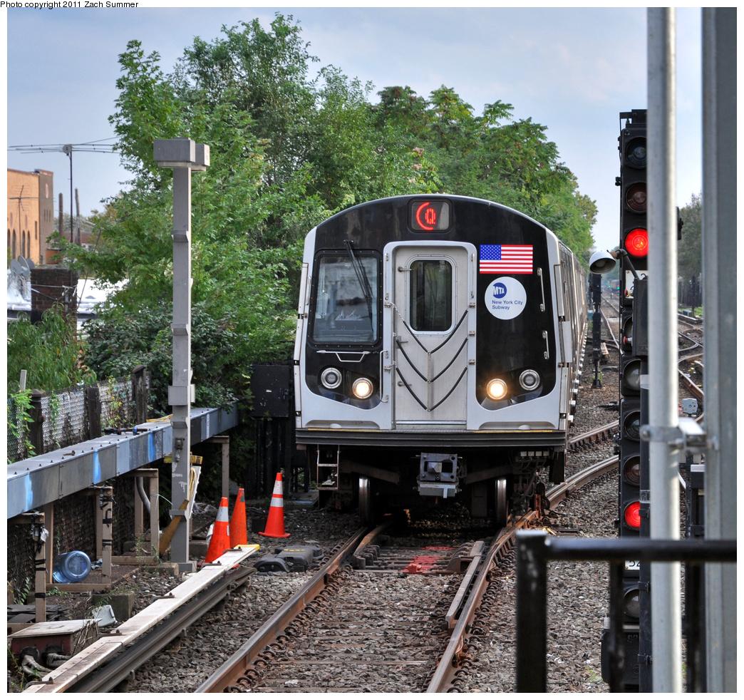 (596k, 1044x982)<br><b>Country:</b> United States<br><b>City:</b> New York<br><b>System:</b> New York City Transit<br><b>Line:</b> BMT Brighton Line<br><b>Location:</b> Kings Highway<br><b>Route:</b> Q<br><b>Car:</b> R-160B (Kawasaki, 2005-2008) 8912 <br><b>Photo by:</b> Zach Summer<br><b>Date:</b> 9/30/2011<br><b>Viewed (this week/total):</b> 3 / 1268