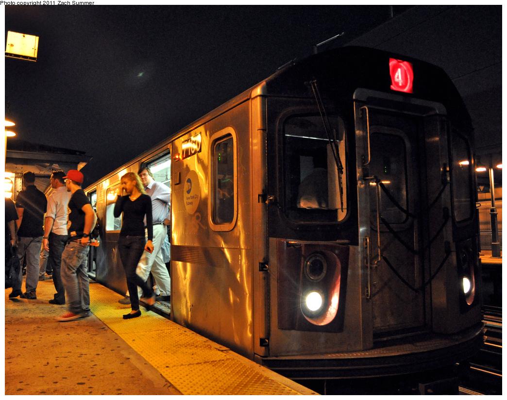 (429k, 1044x824)<br><b>Country:</b> United States<br><b>City:</b> New York<br><b>System:</b> New York City Transit<br><b>Line:</b> IRT Woodlawn Line<br><b>Location:</b> 161st Street-River Avenue (Yankee Stadium)<br><b>Route:</b> 4<br><b>Car:</b> R-142 (Option Order, Bombardier, 2002-2003) 7160 <br><b>Photo by:</b> Zach Summer<br><b>Date:</b> 9/30/2011<br><b>Viewed (this week/total):</b> 0 / 1577
