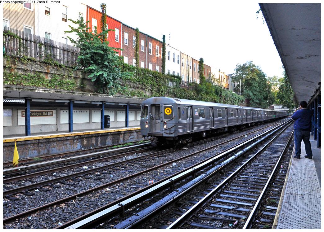 (565k, 1044x749)<br><b>Country:</b> United States<br><b>City:</b> New York<br><b>System:</b> New York City Transit<br><b>Line:</b> BMT Brighton Line<br><b>Location:</b> Cortelyou Road<br><b>Route:</b> Q<br><b>Car:</b> R-68A (Kawasaki, 1988-1989) 5030 <br><b>Photo by:</b> Zach Summer<br><b>Date:</b> 10/2/2011<br><b>Viewed (this week/total):</b> 1 / 2155