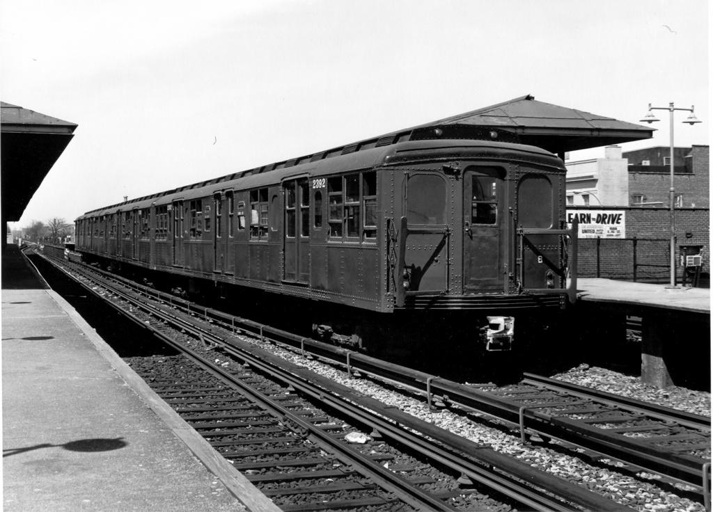 (255k, 1024x736)<br><b>Country:</b> United States<br><b>City:</b> New York<br><b>System:</b> New York City Transit<br><b>Line:</b> BMT Brighton Line<br><b>Location:</b> Kings Highway<br><b>Route:</b> Fan Trip<br><b>Car:</b> BMT A/B-Type Standard 2390-2392 <br><b>Photo by:</b> Ed Watson/Arthur Lonto Collection<br><b>Collection of:</b> Frank Pfuhler<br><b>Date:</b> 4/16/1977<br><b>Viewed (this week/total):</b> 2 / 1607