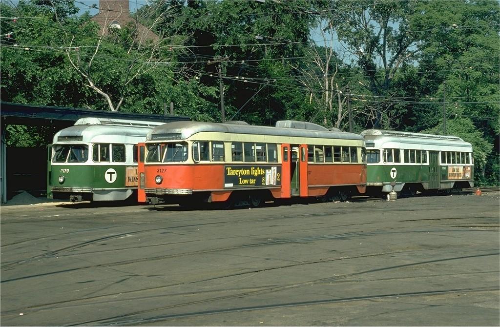 (265k, 1024x670)<br><b>Country:</b> United States<br><b>City:</b> Boston, MA<br><b>System:</b> MBTA<br><b>Line:</b> MBTA Green (B)<br><b>Location:</b> Boston College<br><b>Car:</b> MBTA/BSRy PCC Wartime (Pullman-Standard, 1944) 3127 <br><b>Photo by:</b> Ed McKernan<br><b>Collection of:</b> Joe Testagrose<br><b>Date:</b> 6/21/1978<br><b>Viewed (this week/total):</b> 1 / 12366