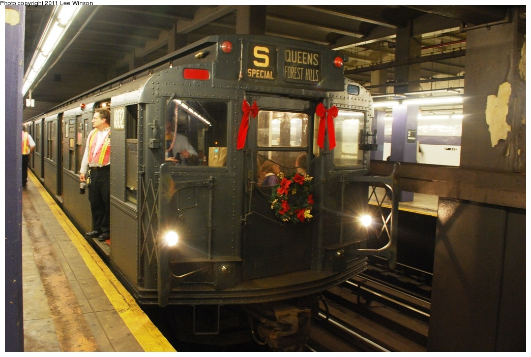 (279k, 1044x703)<br><b>Country:</b> United States<br><b>City:</b> New York<br><b>System:</b> New York City Transit<br><b>Line:</b> IND 6th Avenue Line<br><b>Location:</b> 2nd Avenue<br><b>Route:</b> Fan Trip<br><b>Car:</b> R-9 (Pressed Steel, 1940) 1802 <br><b>Photo by:</b> Lee Winson<br><b>Date:</b> 11/26/2011<br><b>Viewed (this week/total):</b> 0 / 1362