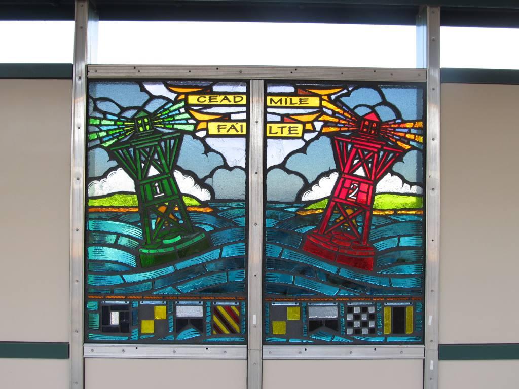(120k, 1024x768)<br><b>Country:</b> United States<br><b>City:</b> New York<br><b>System:</b> New York City Transit<br><b>Line:</b> IND Rockaway Line<br><b>Location:</b> Beach 98th Street/Playland<br><b>Photo by:</b> Robbie Rosenfeld<br><b>Date:</b> 1/16/2012<br><b>Artwork:</b> <i>Be Good or Be Gone</i>, Duke Riley, 2011<br><b>Viewed (this week/total):</b> 2 / 1686
