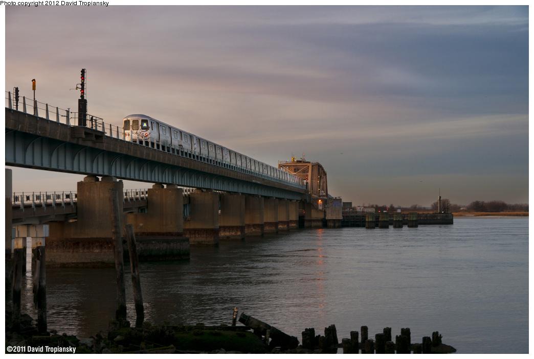 (302k, 1044x703)<br><b>Country:</b> United States<br><b>City:</b> New York<br><b>System:</b> New York City Transit<br><b>Line:</b> IND Rockaway Line<br><b>Location:</b> Hammels Wye<br><b>Route:</b> A<br><b>Car:</b> R-46 (Pullman-Standard, 1974-75)  <br><b>Photo by:</b> David Tropiansky<br><b>Date:</b> 11/26/2011<br><b>Viewed (this week/total):</b> 1 / 2357