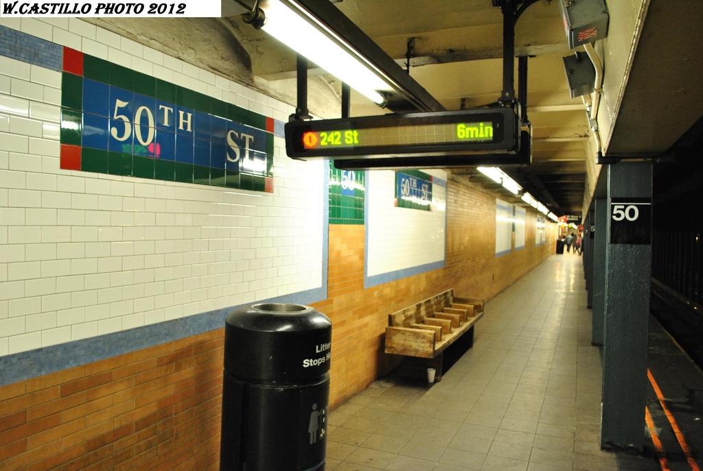 (272k, 1024x687)<br><b>Country:</b> United States<br><b>City:</b> New York<br><b>System:</b> New York City Transit<br><b>Line:</b> IRT West Side Line<br><b>Location:</b> 50th Street<br><b>Photo by:</b> Wilfredo Castillo<br><b>Date:</b> 2/25/2012<br><b>Viewed (this week/total):</b> 2 / 1805