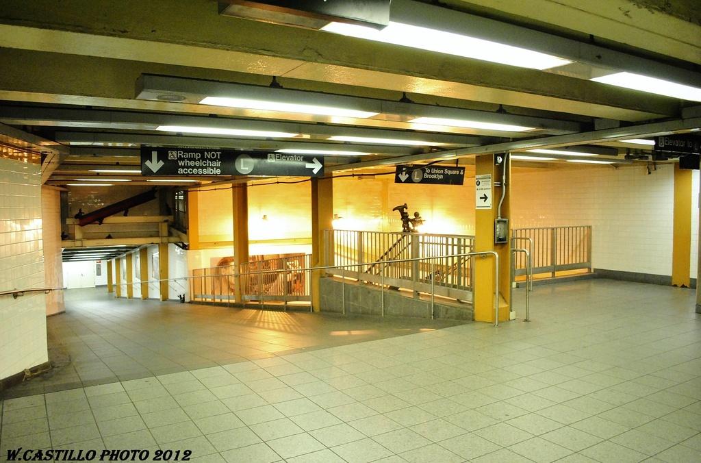 (318k, 1024x676)<br><b>Country:</b> United States<br><b>City:</b> New York<br><b>System:</b> New York City Transit<br><b>Line:</b> BMT Canarsie Line<br><b>Location:</b> 8th Avenue<br><b>Photo by:</b> Wilfredo Castillo<br><b>Date:</b> 2/28/2012<br><b>Viewed (this week/total):</b> 1 / 1418