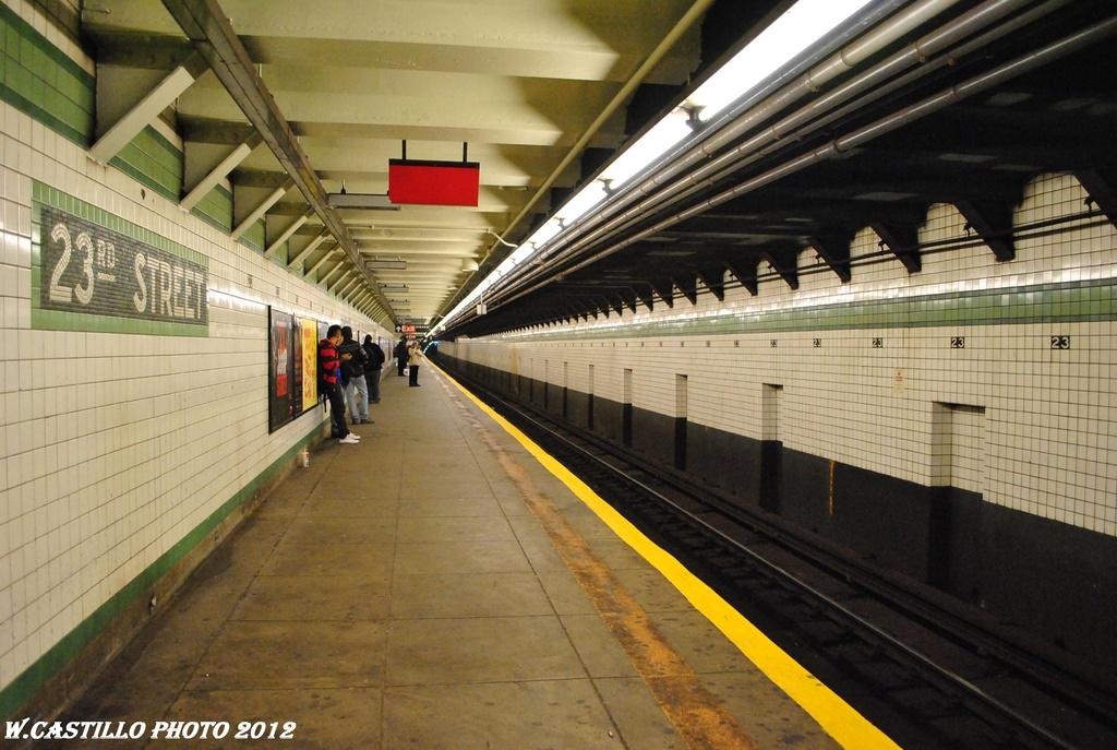 (306k, 1024x687)<br><b>Country:</b> United States<br><b>City:</b> New York<br><b>System:</b> New York City Transit<br><b>Line:</b> IND 6th Avenue Line<br><b>Location:</b> 23rd Street<br><b>Photo by:</b> Wilfredo Castillo<br><b>Date:</b> 3/15/2012<br><b>Viewed (this week/total):</b> 0 / 1303