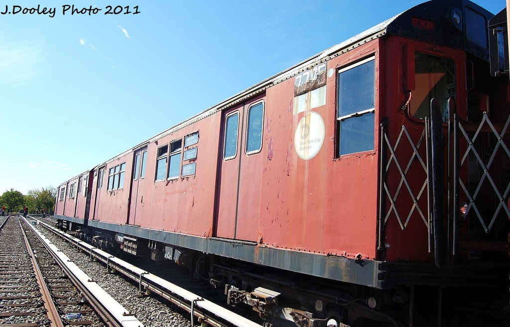 (315k, 1024x657)<br><b>Country:</b> United States<br><b>City:</b> New York<br><b>System:</b> New York City Transit<br><b>Location:</b> Unionport Yard<br><b>Car:</b> R-26 (American Car & Foundry, 1959-60) 7775 <br><b>Photo by:</b> John Dooley<br><b>Date:</b> 10/28/2011<br><b>Viewed (this week/total):</b> 6 / 2150