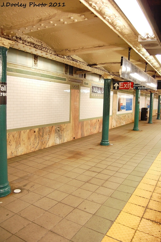 (356k, 680x1023)<br><b>Country:</b> United States<br><b>City:</b> New York<br><b>System:</b> New York City Transit<br><b>Line:</b> IRT East Side Line<br><b>Location:</b> Wall Street<br><b>Photo by:</b> John Dooley<br><b>Date:</b> 10/28/2011<br><b>Viewed (this week/total):</b> 0 / 1389