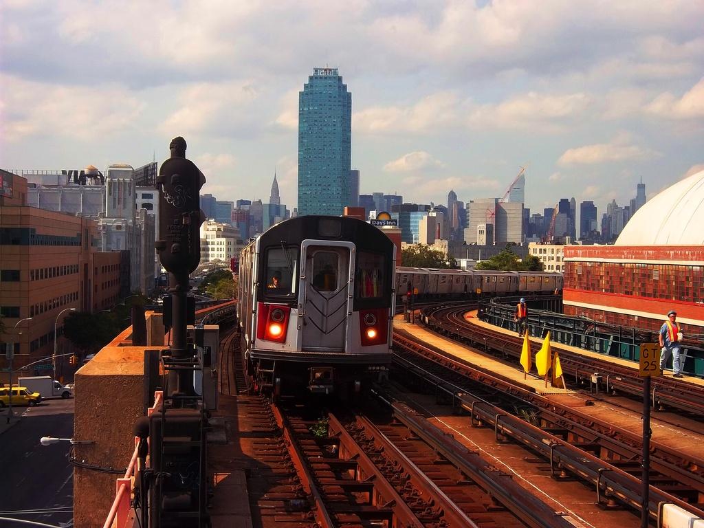 (342k, 1024x768)<br><b>Country:</b> United States<br><b>City:</b> New York<br><b>System:</b> New York City Transit<br><b>Line:</b> IRT Flushing Line<br><b>Location:</b> 33rd Street/Rawson Street<br><b>Route:</b> 7 testing<br><b>Car:</b> R-142A (Primary Order, Kawasaki, 1999-2002) 7240 <br><b>Photo by:</b> Christopher Henderson<br><b>Date:</b> 9/30/2011<br><b>Viewed (this week/total):</b> 1 / 1838