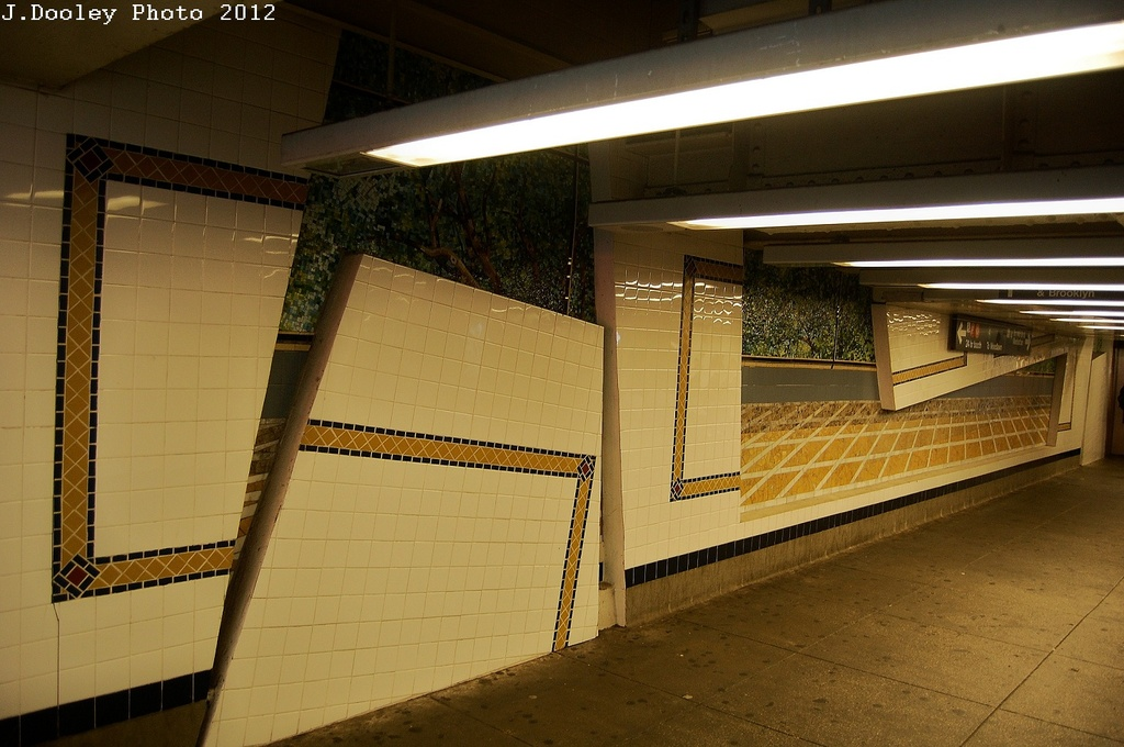 (297k, 1024x680)<br><b>Country:</b> United States<br><b>City:</b> New York<br><b>System:</b> New York City Transit<br><b>Line:</b> IND Concourse Line<br><b>Location:</b> 161st Street-River Avenue (Yankee Stadium)<br><b>Photo by:</b> John Dooley<br><b>Date:</b> 3/31/2012<br><b>Artwork:</b> <i>Wall-Slide/Room of Tranquility</i>, Acconci/Brandt, 2002<br><b>Viewed (this week/total):</b> 3 / 2573