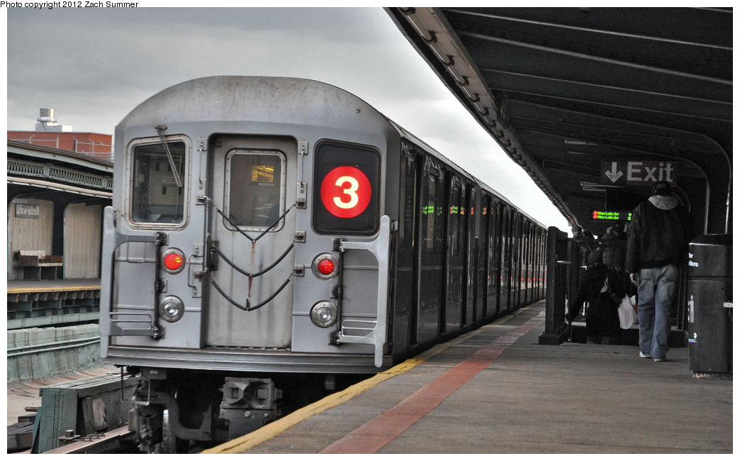 (302k, 1044x650)<br><b>Country:</b> United States<br><b>City:</b> New York<br><b>System:</b> New York City Transit<br><b>Line:</b> IRT Brooklyn Line<br><b>Location:</b> Sutter Avenue/Rutland Road<br><b>Route:</b> 3<br><b>Car:</b> R-62 (Kawasaki, 1983-1985) 1611 <br><b>Photo by:</b> Zach Summer<br><b>Date:</b> 1/14/2012<br><b>Viewed (this week/total):</b> 0 / 1887