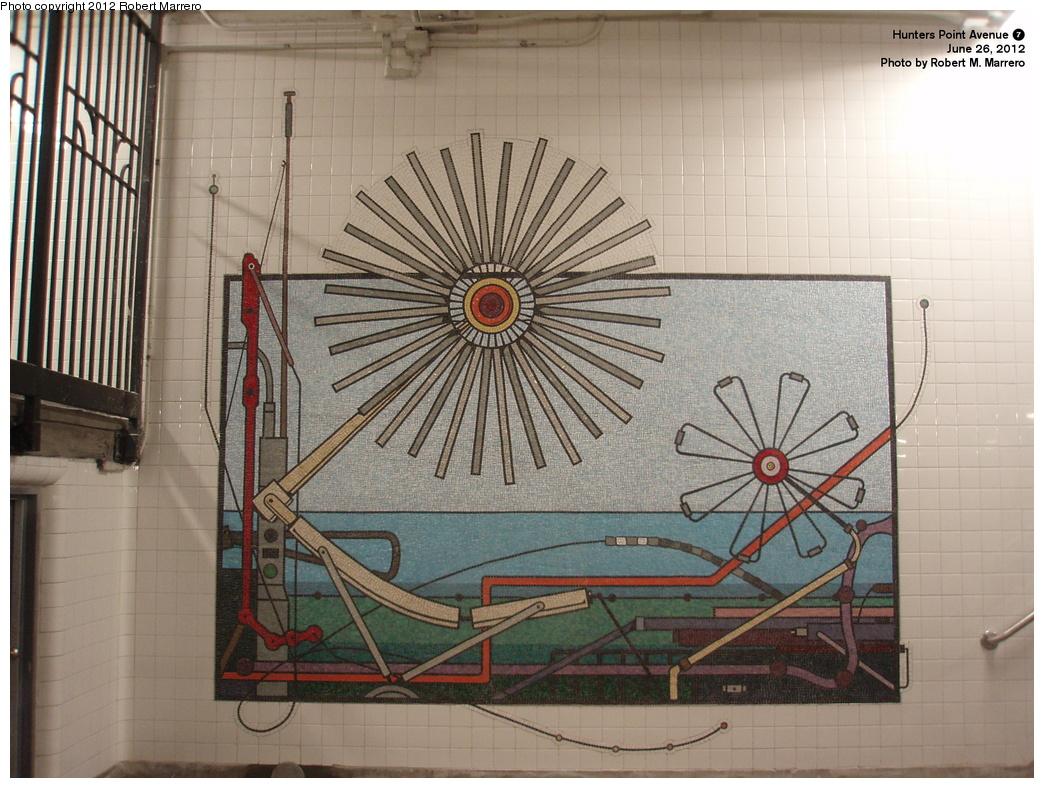(359k, 1044x788)<br><b>Country:</b> United States<br><b>City:</b> New York<br><b>System:</b> New York City Transit<br><b>Line:</b> IRT Flushing Line<br><b>Location:</b> Hunters Point Avenue<br><b>Photo by:</b> Robert Marrero<br><b>Date:</b> 6/26/2012<br><b>Artwork:</b> <i>Hunters Point Avenue Project</i>, Tricia Keightley, 2012<br><b>Notes:</b> New artwork installation.<br><b>Viewed (this week/total):</b> 1 / 2527