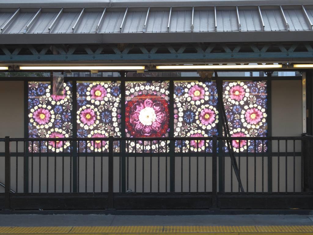(134k, 1024x768)<br><b>Country:</b> United States<br><b>City:</b> New York<br><b>System:</b> New York City Transit<br><b>Line:</b> BMT West End Line<br><b>Location:</b> Fort Hamilton Parkway<br><b>Photo by:</b> Robbie Rosenfeld<br><b>Date:</b> 7/9/2012<br><b>Artwork:</b> <i>Gardens of Fort Hamilton Parkway Station</i>, Portia Munson, 2012<br><b>Viewed (this week/total):</b> 2 / 2430