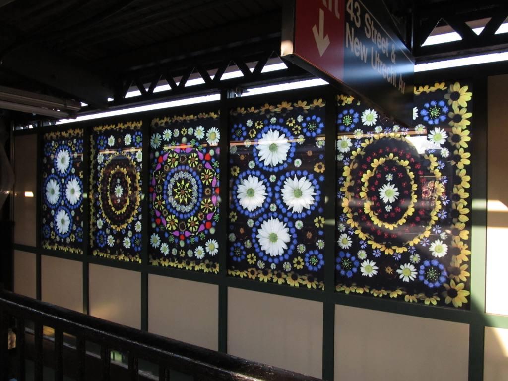 (124k, 1024x768)<br><b>Country:</b> United States<br><b>City:</b> New York<br><b>System:</b> New York City Transit<br><b>Line:</b> BMT West End Line<br><b>Location:</b> Fort Hamilton Parkway<br><b>Photo by:</b> Robbie Rosenfeld<br><b>Date:</b> 7/9/2012<br><b>Artwork:</b> <i>Gardens of Fort Hamilton Parkway Station</i>, Portia Munson, 2012<br><b>Viewed (this week/total):</b> 3 / 1923