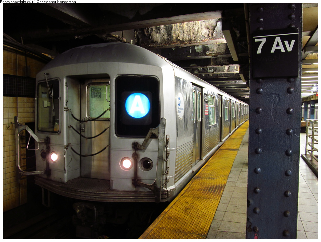 (322k, 1044x788)<br><b>Country:</b> United States<br><b>City:</b> New York<br><b>System:</b> New York City Transit<br><b>Line:</b> IND Queens Boulevard Line<br><b>Location:</b> 7th Avenue/53rd Street<br><b>Route:</b> A reroute<br><b>Car:</b> R-42 (St. Louis, 1969-1970) 4823 <br><b>Photo by:</b> Christopher Henderson<br><b>Date:</b> 7/10/2012<br><b>Viewed (this week/total):</b> 6 / 1913