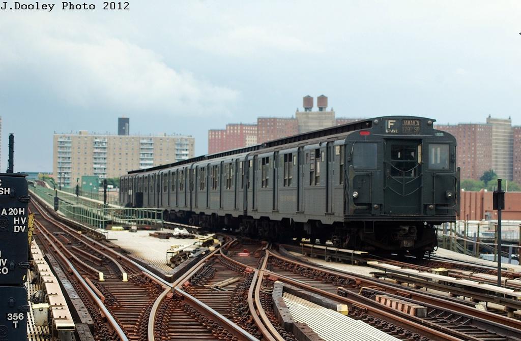 (308k, 1024x671)<br><b>Country:</b> United States<br><b>City:</b> New York<br><b>System:</b> New York City Transit<br><b>Line:</b> BMT Culver Line<br><b>Location:</b> Avenue X<br><b>Route:</b> Transit Museum Nostalgia Train<br><b>Car:</b> R-9 (Pressed Steel, 1940) 1802 <br><b>Photo by:</b> John Dooley<br><b>Date:</b> 7/29/2012<br><b>Viewed (this week/total):</b> 0 / 1615
