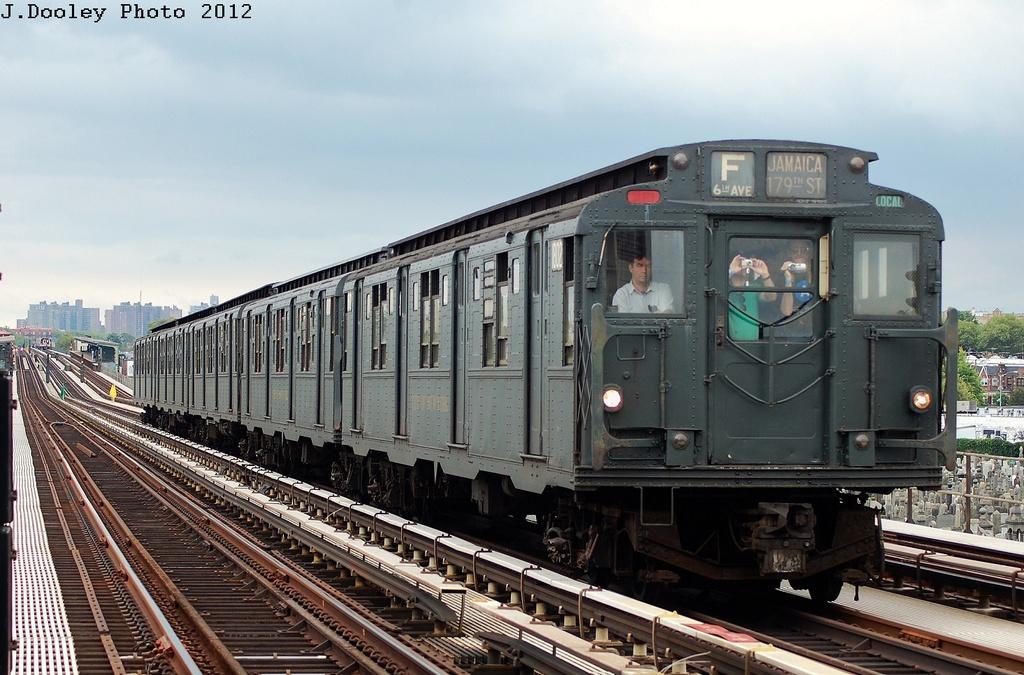 (334k, 1024x675)<br><b>Country:</b> United States<br><b>City:</b> New York<br><b>System:</b> New York City Transit<br><b>Line:</b> BMT Culver Line<br><b>Location:</b> Bay Parkway (22nd Avenue)<br><b>Route:</b> Transit Museum Nostalgia Train<br><b>Car:</b> R-9 (Pressed Steel, 1940) 1802 <br><b>Photo by:</b> John Dooley<br><b>Date:</b> 7/29/2012<br><b>Viewed (this week/total):</b> 0 / 1821