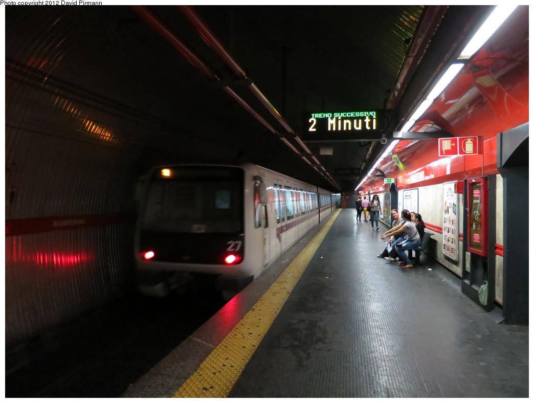(247k, 1044x788)<br><b>Country:</b> Italy<br><b>City:</b> Rome<br><b>Line:</b> Rome Metro A<br><b>Location:</b> Barberini - Fontana di Trevi<br><b>Photo by:</b> David Pirmann<br><b>Date:</b> 9/15/2012<br><b>Viewed (this week/total):</b> 2 / 715