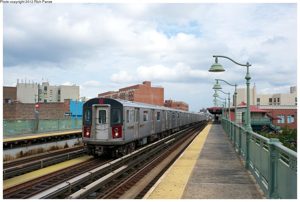 (248k, 1044x702)<br><b>Country:</b> United States<br><b>City:</b> New York<br><b>System:</b> New York City Transit<br><b>Line:</b> IRT White Plains Road Line<br><b>Location:</b> Prospect Avenue<br><b>Route:</b> 2<br><b>Car:</b> R-142 (Primary Order, Bombardier, 1999-2002) 6301 <br><b>Photo by:</b> Richard Panse<br><b>Date:</b> 10/13/2012<br><b>Viewed (this week/total):</b> 1 / 1674