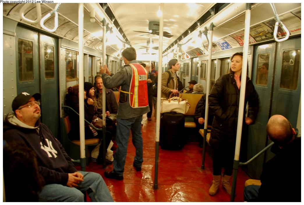 (273k, 1044x705)<br><b>Country:</b> United States<br><b>City:</b> New York<br><b>System:</b> New York City Transit<br><b>Route:</b> Museum Train Service<br><b>Car:</b> R-6-3 (American Car & Foundry, 1935) 1000 <br><b>Photo by:</b> Lee Winson<br><b>Date:</b> 12/2/2012<br><b>Viewed (this week/total):</b> 1 / 955