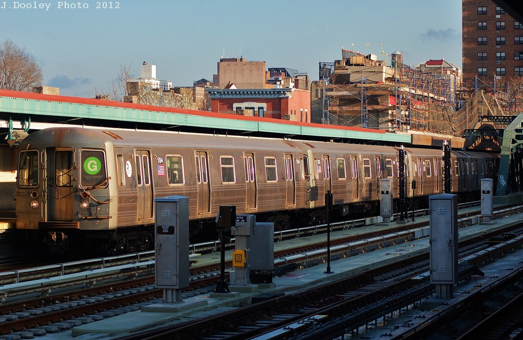 (361k, 1024x666)<br><b>Country:</b> United States<br><b>City:</b> New York<br><b>System:</b> New York City Transit<br><b>Line:</b> IND Crosstown Line<br><b>Location:</b> 4th Avenue<br><b>Route:</b> G<br><b>Car:</b> R-68A (Kawasaki, 1988-1989) 5194 <br><b>Photo by:</b> John Dooley<br><b>Date:</b> 12/18/2012<br><b>Viewed (this week/total):</b> 0 / 2202