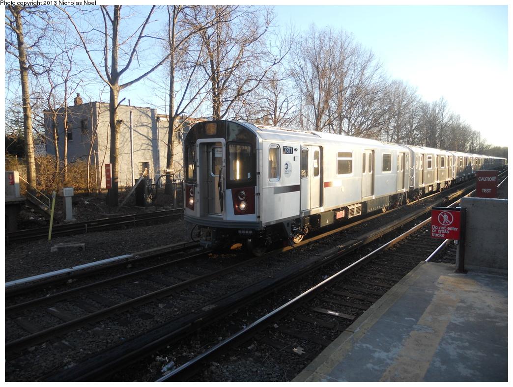 (448k, 1044x788)<br><b>Country:</b> United States<br><b>City:</b> New York<br><b>System:</b> New York City Transit<br><b>Line:</b> IRT Dyre Ave. Line<br><b>Location:</b> Gun Hill Road<br><b>Route:</b> Testing<br><b>Car:</b> R-188 (Kawasaki, 2012-) 7811 <br><b>Photo by:</b> Nicholas Noel<br><b>Date:</b> 2/21/2013<br><b>Viewed (this week/total):</b> 6 / 1830