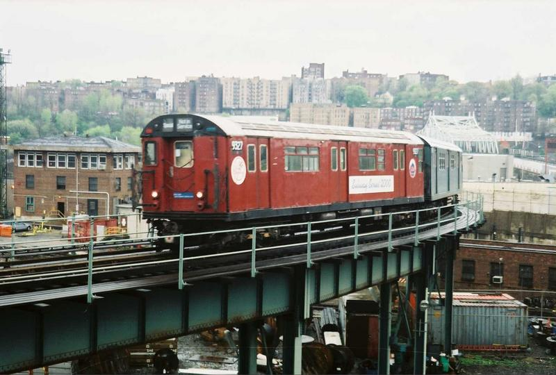 (70k, 800x540)<br><b>Country:</b> United States<br><b>City:</b> New York<br><b>System:</b> New York City Transit<br><b>Location:</b> 207th Street Yard<br><b>Route:</b> Fan Trip<br><b>Car:</b> R-33 World's Fair (St. Louis, 1963-64) 9327 <br><b>Photo by:</b> Gary Chatterton<br><b>Date:</b> 5/1/2005<br><b>Viewed (this week/total):</b> 1 / 3513