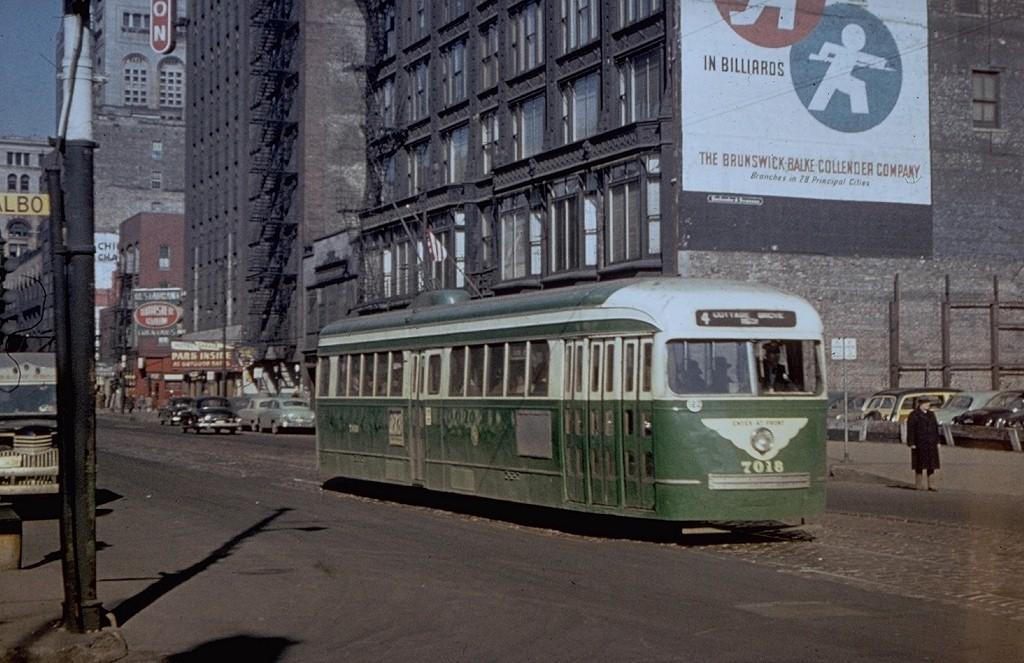 (196k, 1024x663)<br><b>Country:</b> United States<br><b>City:</b> Chicago, IL<br><b>System:</b> Chicago Transit Authority<br><b>Location:</b> Wabash/Balbo<br><b>Route:</b> Rt.4<br><b>Car:</b> PCC 7018 <br><b>Collection of:</b> Joe Testagrose<br><b>Viewed (this week/total):</b> 0 / 15221