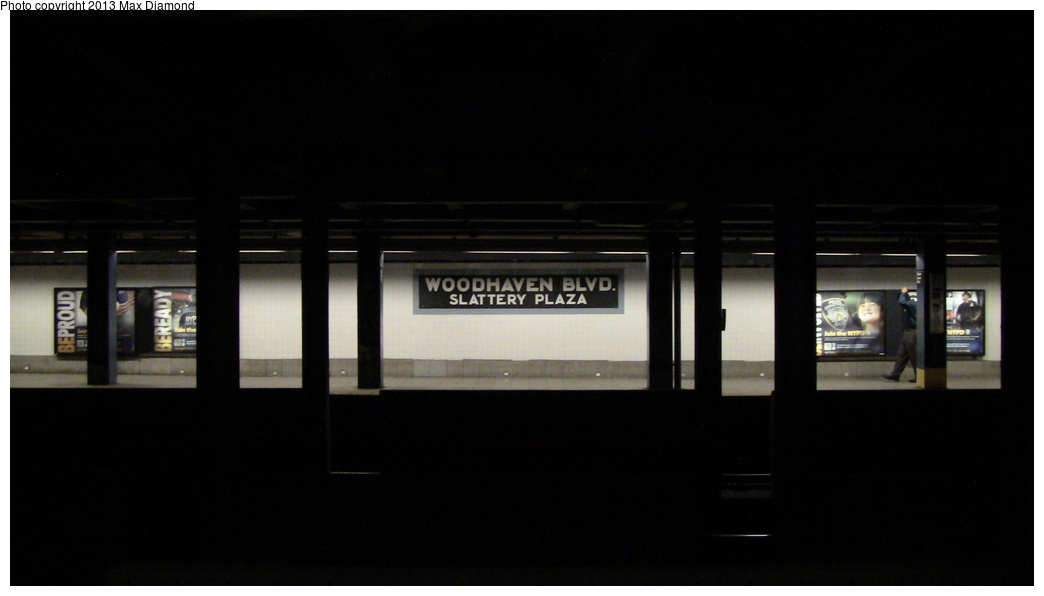 (133k, 1044x596)<br><b>Country:</b> United States<br><b>City:</b> New York<br><b>System:</b> New York City Transit<br><b>Line:</b> IND Queens Boulevard Line<br><b>Location:</b> Woodhaven Boulevard/Queens Mall<br><b>Photo by:</b> Max Diamond<br><b>Date:</b> 7/25/2013<br><b>Viewed (this week/total):</b> 2 / 1807