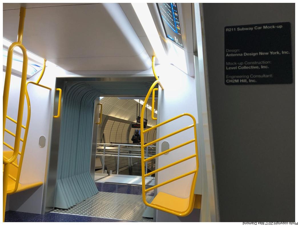(255k, 1044x788)<br><b>Country:</b> United States<br><b>City:</b> New York<br><b>System:</b> New York City Transit<br><b>Line:</b> IRT Flushing Line<br><b>Location:</b> 34th Street-Hudson Yards<br><b>Car:</b> R-211 Mockup <br><b>Photo by:</b> Max Diamond<br><b>Date:</b> 11/30/2017<br><b>Viewed (this week/total):</b> 7 / 2096