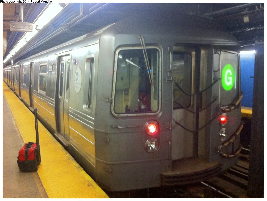 (318k, 1044x785)<br><b>Country:</b> United States<br><b>City:</b> New York<br><b>System:</b> New York City Transit<br><b>Line:</b> IND Crosstown Line<br><b>Location:</b> Church Avenue<br><b>Route:</b> G<br><b>Car:</b> R-68A (Kawasaki, 1988-1989) 5190 <br><b>Photo by:</b> Robert Mencher<br><b>Date:</b> 12/30/2013<br><b>Viewed (this week/total):</b> 3 / 1354