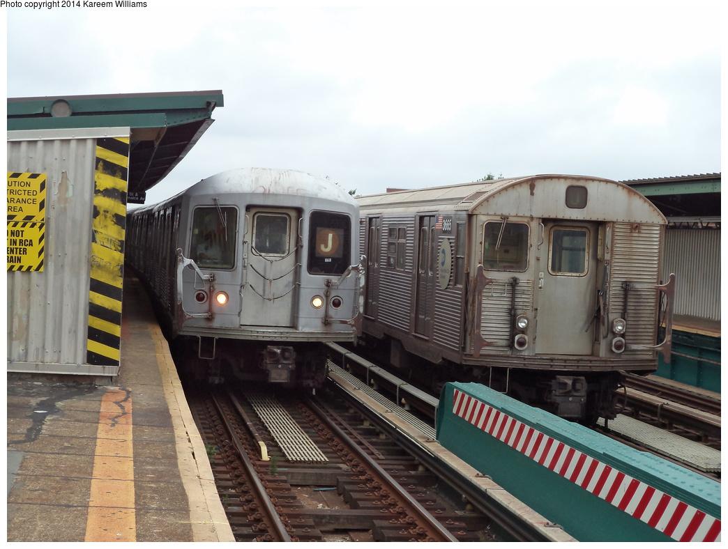 (314k, 1044x788)<br><b>Country:</b> United States<br><b>City:</b> New York<br><b>System:</b> New York City Transit<br><b>Line:</b> BMT Nassau Street-Jamaica Line<br><b>Location:</b> 111th Street<br><b>Route:</b> J<br><b>Car:</b> R-42 (St. Louis, 1969-1970)  <br><b>Photo by:</b> Kareem Williams<br><b>Date:</b> 7/28/2013<br><b>Viewed (this week/total):</b> 2 / 1726