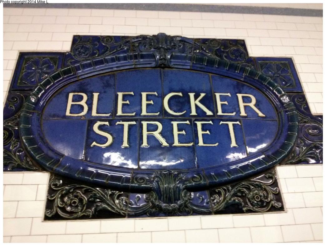 (364k, 1044x788)<br><b>Country:</b> United States<br><b>City:</b> New York<br><b>System:</b> New York City Transit<br><b>Line:</b> IRT East Side Line<br><b>Location:</b> Bleecker Street<br><b>Photo by:</b> Mike L.<br><b>Date:</b> 6/9/2013<br><b>Notes:</b> Restored name tablet<br><b>Viewed (this week/total):</b> 0 / 1367