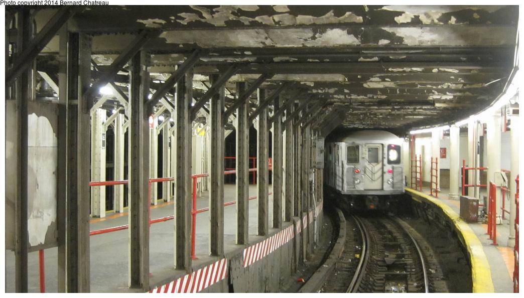 (255k, 1044x594)<br><b>Country:</b> United States<br><b>City:</b> New York<br><b>System:</b> New York City Transit<br><b>Line:</b> IRT Times Square-Grand Central Shuttle<br><b>Location:</b> Times Square<br><b>Route:</b> S<br><b>Car:</b> R-62A (Bombardier, 1984-1987) 1931 <br><b>Photo by:</b> Bernard Chatreau<br><b>Date:</b> 4/8/2011<br><b>Viewed (this week/total):</b> 8 / 1519