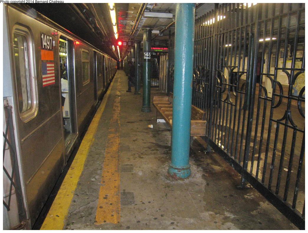 (401k, 1044x788)<br><b>Country:</b> United States<br><b>City:</b> New York<br><b>System:</b> New York City Transit<br><b>Line:</b> IRT Lenox Avenue Line<br><b>Location:</b> 145th Street<br><b>Route:</b> 3<br><b>Photo by:</b> Bernard Chatreau<br><b>Date:</b> 9/23/2011<br><b>Viewed (this week/total):</b> 0 / 1500