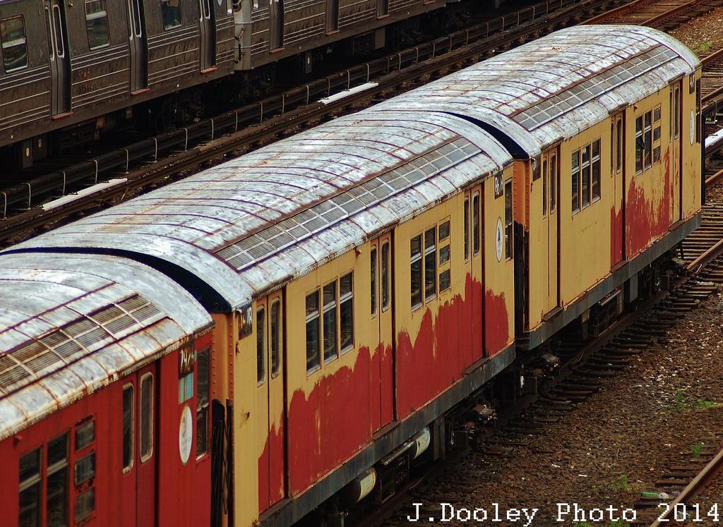 (453k, 1024x747)<br><b>Country:</b> United States<br><b>City:</b> New York<br><b>System:</b> New York City Transit<br><b>Location:</b> Concourse Yard<br><b>Car:</b> R-29 (St. Louis, 1962) 8678-79 <br><b>Photo by:</b> John Dooley<br><b>Date:</b> 6/19/2014<br><b>Viewed (this week/total):</b> 5 / 2244
