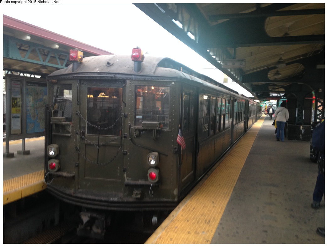 (228k, 1044x788)<br><b>Country:</b> United States<br><b>City:</b> New York<br><b>System:</b> New York City Transit<br><b>Line:</b> IRT White Plains Road Line<br><b>Location:</b> East 180th Street<br><b>Route:</b> Fan Trip<br><b>Car:</b> Low-V (Museum Train) 5443 <br><b>Photo by:</b> Nicholas Noel<br><b>Date:</b> 10/26/2014<br><b>Viewed (this week/total):</b> 0 / 1308
