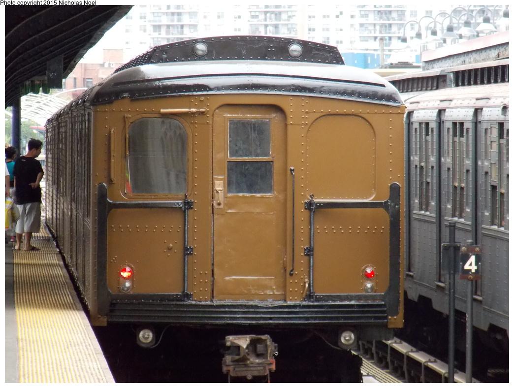(359k, 1044x788)<br><b>Country:</b> United States<br><b>City:</b> New York<br><b>System:</b> New York City Transit<br><b>Line:</b> BMT Brighton Line<br><b>Location:</b> Brighton Beach<br><b>Route:</b> Museum Train Service<br><b>Car:</b> BMT A/B-Type Standard 2392 <br><b>Photo by:</b> Nicholas Noel<br><b>Date:</b> 6/27/2015<br><b>Notes:</b> BMT 100th Anniversary celebration service.<br><b>Viewed (this week/total):</b> 1 / 996