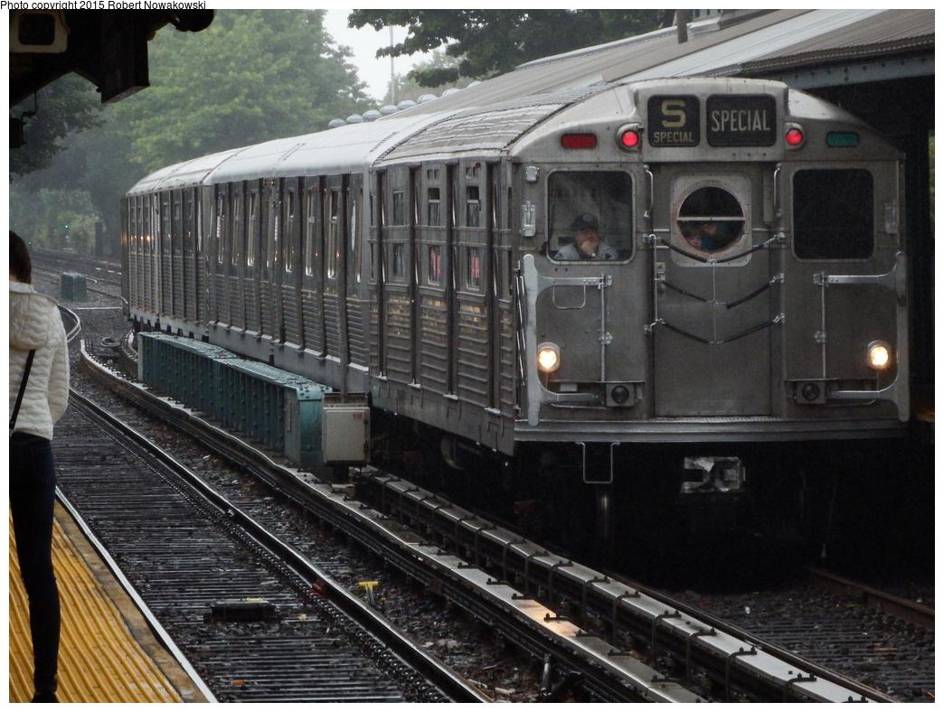 (359k, 1044x788)<br><b>Country:</b> United States<br><b>City:</b> New York<br><b>System:</b> New York City Transit<br><b>Line:</b> BMT Brighton Line<br><b>Location:</b> Sheepshead Bay<br><b>Route:</b> Museum Train Service<br><b>Car:</b> R-11 (Budd, 1949) 8013 <br><b>Photo by:</b> Robert Nowakowski<br><b>Date:</b> 6/28/2015<br><b>Notes:</b> BMT 100th Anniversary celebration.<br><b>Viewed (this week/total):</b> 1 / 1879