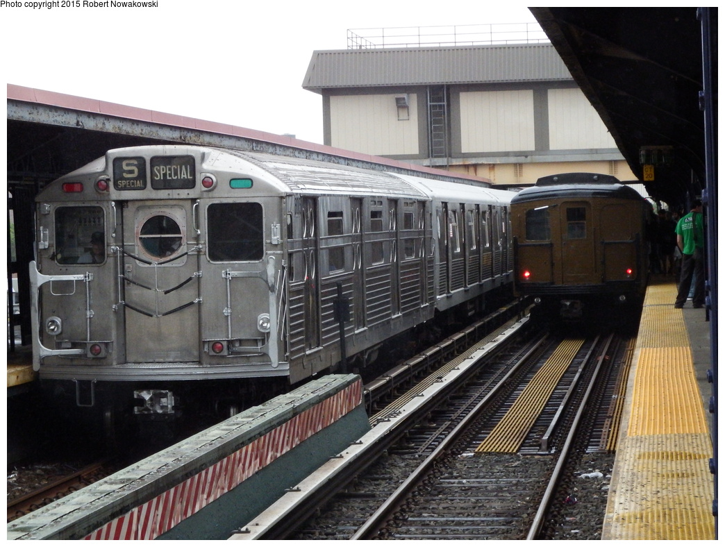 (343k, 1044x788)<br><b>Country:</b> United States<br><b>City:</b> New York<br><b>System:</b> New York City Transit<br><b>Line:</b> BMT Brighton Line<br><b>Location:</b> Brighton Beach<br><b>Route:</b> Museum Train Service<br><b>Car:</b> R-11 (Budd, 1949) 8013 <br><b>Photo by:</b> Robert Nowakowski<br><b>Date:</b> 6/28/2015<br><b>Notes:</b> BMT 100th Anniversary celebration.<br><b>Viewed (this week/total):</b> 0 / 1520