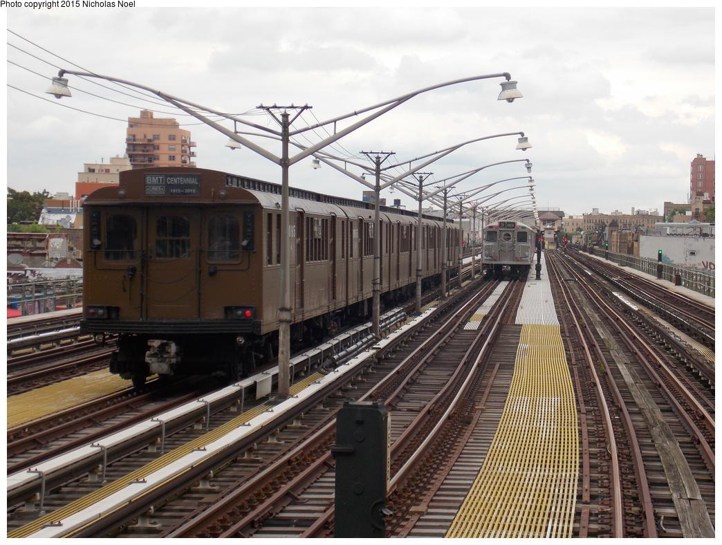 (410k, 1044x788)<br><b>Country:</b> United States<br><b>City:</b> New York<br><b>System:</b> New York City Transit<br><b>Line:</b> BMT Brighton Line<br><b>Location:</b> Brighton Beach<br><b>Route:</b> Museum Train Service<br><b>Car:</b> BMT D-Type Triplex 6095 <br><b>Photo by:</b> Nicholas Noel<br><b>Date:</b> 6/28/2015<br><b>Notes:</b> Layup<br><b>Viewed (this week/total):</b> 1 / 1105